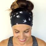 Yoga Headband - Workout Headband - Fitness Headband - Running Headband - Free Bird Print - Boho Wide Headband