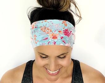 Yoga Headband - Running Headband - Workout Headband - Fitness Headband - Carli Print - Boho Wide Headband