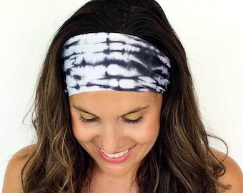 Yoga Headband - Running Headband - Workout Headband - Fitness Headband - Moonstruck Print - Boho Wide Headband
