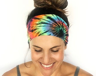 Free Love Yoga Headband - Workout Headband - Fitness Headband - Running Headband - Splash - Boho Wide Headband