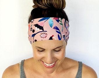 Yoga Headband - Running Headband - Workout Headband - Fitness Headband - Georgina Print - Boho Wide Headband
