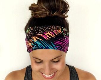 Yoga Headband - Workout Headband - Fitness Headband - Running Headband - Islamorada Print - Boho Wide Headband