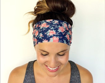 Yoga Headband - Workout Headband - Fitness Headband - Running Headband - Juliette Print - Boho Wide Headband
