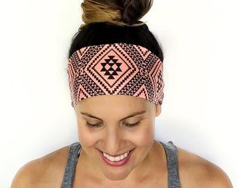 Yoga Headband - Workout Headband - Fitness Headband - Running Headband - Desert Thrills Print - Boho Wide Headband