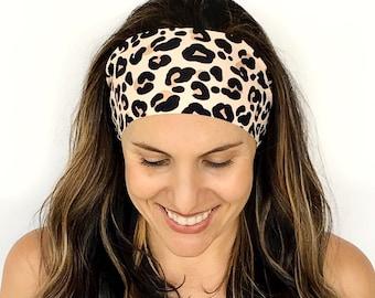 Leopard Love Headband - Running Headband - Fitness Headband - Fitness Apparel - Wide headband - Workout Headband - leopard headband