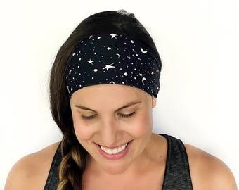Yoga Headband - Lunar Print - Running Headband - Fitness Headband - Fitness Apparel - Wide headband - Workout Headband