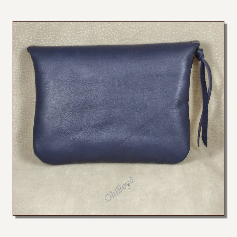 Hand Stitched Organizer for Purse or Hand Carry Soft Leather Wallet Clutch