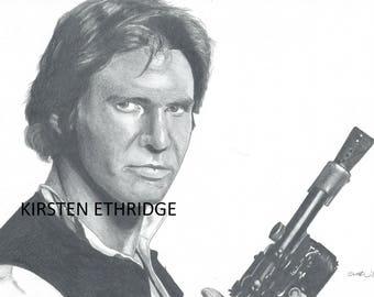 "Original Drawing - Han Solo 7.25""x11"""