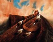 Frank Howell quot TETON CLOUD DREAMER quot Old Man Red Cloud 8 quot x10 quot Native American Print, Drawing, Art Print, Illustration, Wall Decor