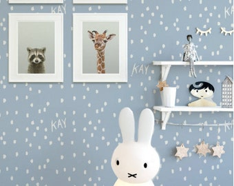 Behang Kinderkamer Geel : Kinderkamer behang etsy
