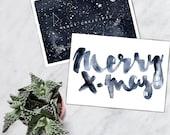 Christmas Cards set of 2 cards - 2 designs - Unique Design - SFA - free shipping