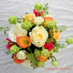 Real Touch Bouquet, Bridal Bouquet, Wedding Bouquet, Groom Boutonniere, Fall Boutonniere, Fall Bridal Bouquet, Autumn Bouquet, Bouquet