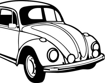 vw beetle hot rod etsy 81 Chevy Pickup Parts vw beetle 1 classic vintage retro car eps svg digital clipart vector cutting cut