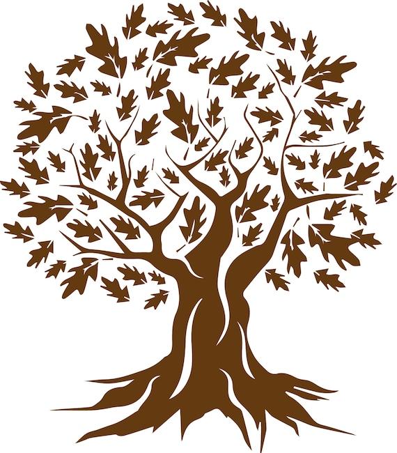 Oak Tree 2 Eps Svg Digital Clipart Vector Cutting Cut