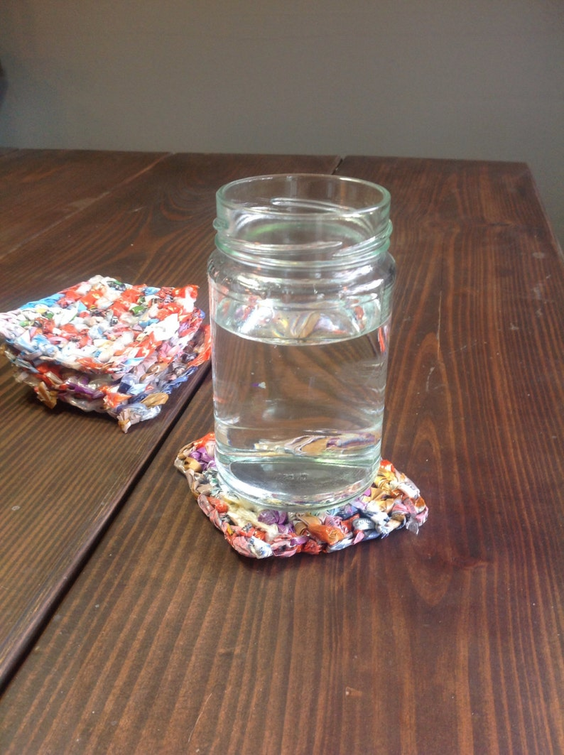 Recycled Plarn Coasters image 1