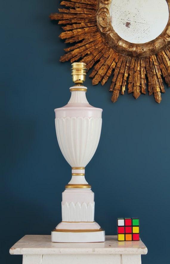 50s blancorosa 60s neoclásico de diseño porcelana de Lámpara y doradoVintage en rdhxBtQCs