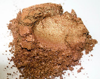 Bronze Shimmer Mica Powder for Soap Making, Candle Dye, Resin, & Nail Polish. A Cosmetic Mica Pigment for Eyeshadow at 5 Grams or 1 oz