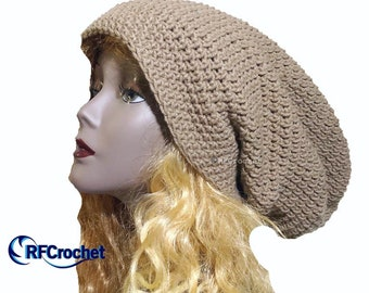 dd5747155b9 XXL Taupe Brown Oversized Slouchy Beanie - In Stock - Large Hat Size