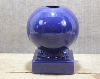 Vintage 1930-1950 Fiesta Ware Bulb Candlestick Cobalt color one only vintage item Original Color item  1 ONLY