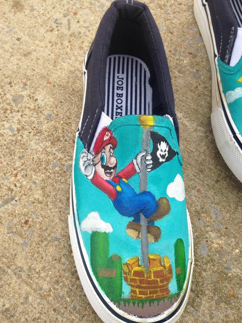 Handpainted Super Mario Shoes