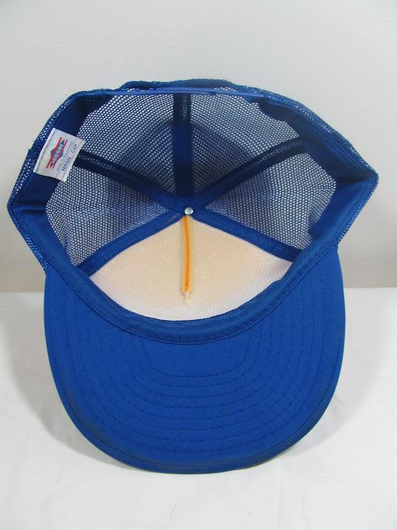 db155d0ff Golden Bear Snapback Mesh Trucker Hat Nissin Cap baseball cap Blue/Gold  Marysville CA California 1990s 90s