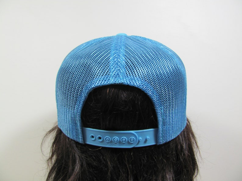 ac60d67e647a7 Cully Screws Snapback Mesh Trucker Hat Baseball Cap Baby Blue