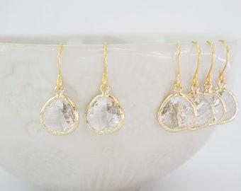 Crystal Gem Earrings | Bridesmaid Earrings | Wedding Jewelry | ECG5, ECS5