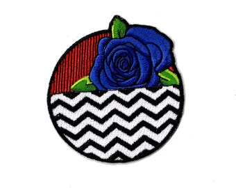 Twin Peaks Patch Blue Rose with The Red Room and Black Lodge by ZanzibarLand