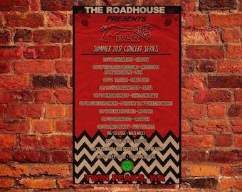 Twin Peaks Poster Roadhouse Bang Bang Bar Summer 2017 Concert Poster from ZanzibarLand