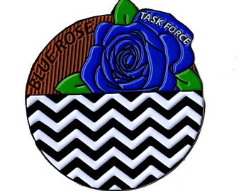 Twin Peaks Pin Blue Rose The Red Room and Black Lodge Inspired by ZanzibarLand