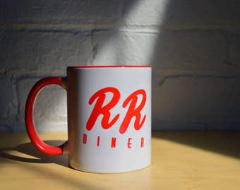 Double R Diner Coffee Mug RR Inspired by Twin Peaks Damn Fine Cup of Coffee