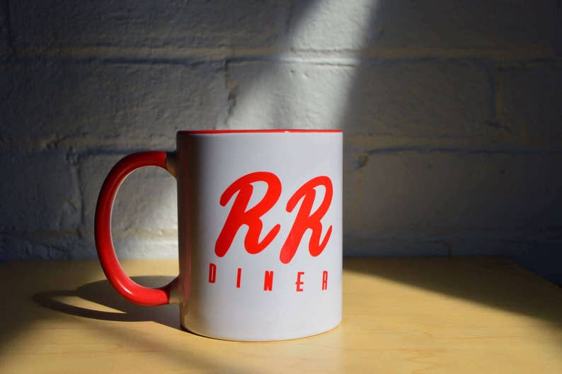 Double R Diner Coffee Mug RR Inspired by Twin Peaks Damn Fine image 0
