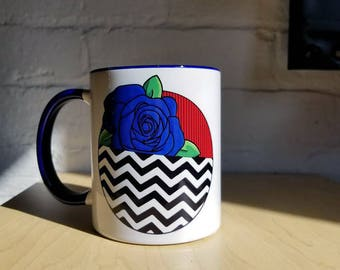Twin Peaks Coffee Mug Blue Rose and Red Room from ZanzibarLand