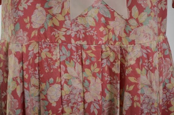 80s/90s Laura Ashley Mauve Floral Cotton Garden P… - image 7