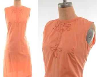 60s Creamsicle Ethnic-inspired Boho Tunic Dress Medium