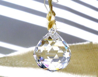 Rainbow Prisms, 60 Carat Glass Diamonds are Crystal Prism Drops Faceted to Create Rainbows in Bright Light, Teardrop Chandelier Pendants