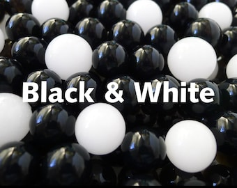 Black and White Water Beads Make a Dramatic Mix of Ebony and Ivory Orbeez, Tiny Beads Grow to Semi Opaque Vase Fillers & Centerpieces