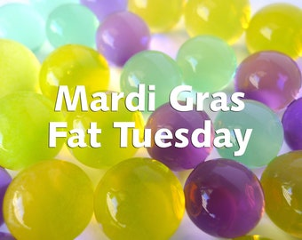 Mardi Gras Water Beads, Fat Tuesday Purple Green Gold Mix of Orbeez that Expand in Water, Centerpieces Vase Fillers Sensory Tubs and Bins