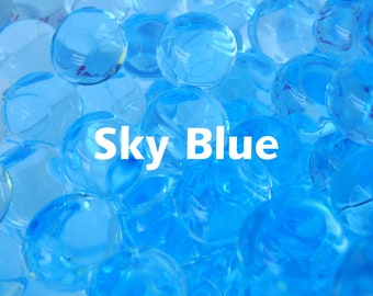 Sky Blue Orbeez Water Beads, Glistening Baby Blue Orbs that Grow in Water from Tiny Beads to Orbs for Sensory Tubs and Flower Arrangements