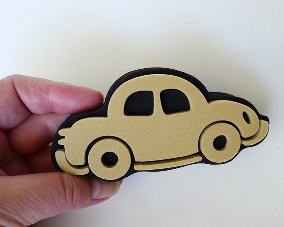 Car Stamp Auto Stamp Foam Stamp Automobile Craft Family Etsy