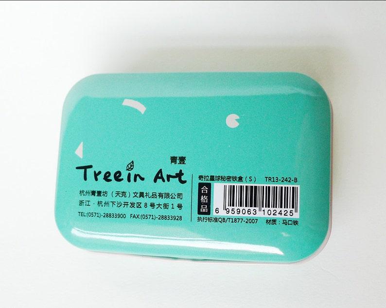 Party Favors Alien Box Hinged Lid Kira Kira Cute Aliens Stash Box Welcome to KiraKira Metal Tin Box Water Color Case