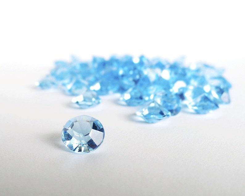 Baby Blue Diamonds Acrylic Gemstones Fake Diamond 4 Carat  01fc59ed1
