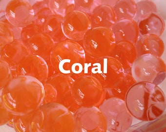 Coral Orbeez Water Beads are a Peachy Pink Fantasy Color, Translucent Orbs in Light Pink Orange Grow in Water from Tiny Pin Head Size Balls