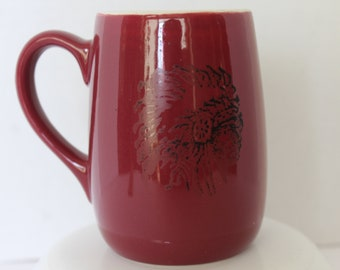 One Vintage Coors Beer Miniature Mug Stein Red Advertising Logo 1.5 Small Glazed Ceramic Porcelain Adolph Coors Company Gifts for Him Her