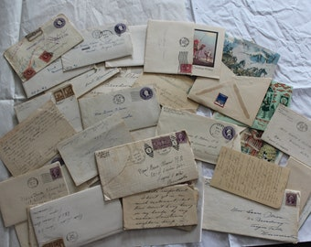 Vintage Early 1930s Letters, Envelopes, Christmas Cards, Stamps  The way life was in early 1930s.  Pretty Special 30 plus pieces