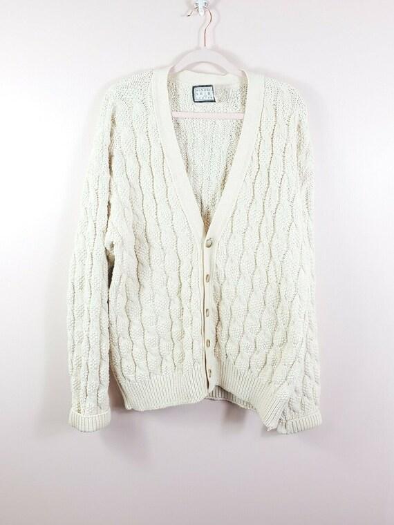 VTG Windsor Shirt Co. oversized chunky knit aran b