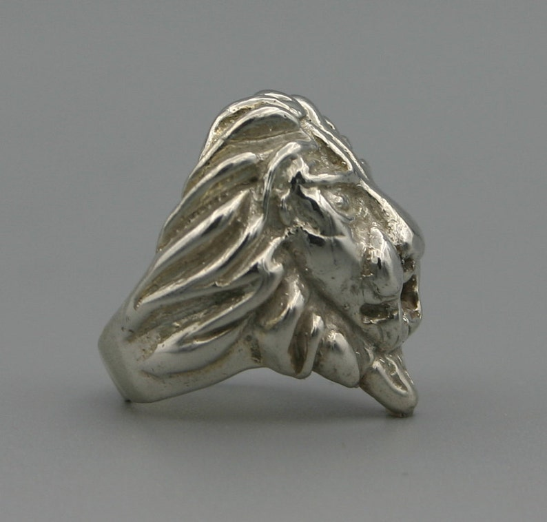 House Lannister Sigil Animal Ring King Ring Lion Ring Sterling Silver Lion Ring Solid Silver Lion Ring King of the Jungle Ring
