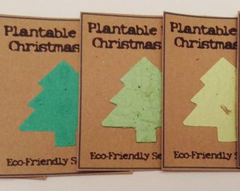 Seed Paper Christmas Card inserts for Christmas Cards or Gifts