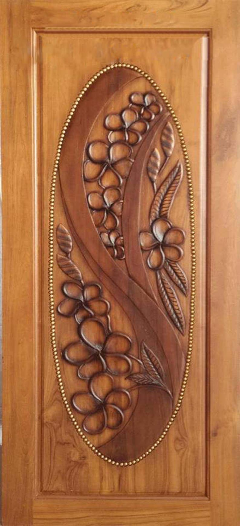 Carved Teak Wood Interior Exterior Entry Entrance Front French Etsy