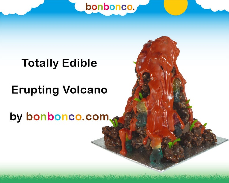 Chocolate Erupting Volcano Kit Personalised Gift by image 0